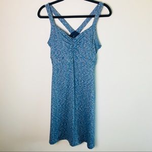 Prana Amaya  Blue Spacedye Racerback Dress-L